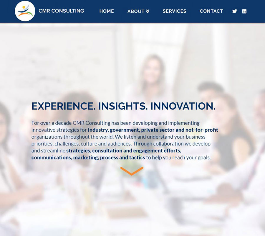 CMR Consulting Website Image