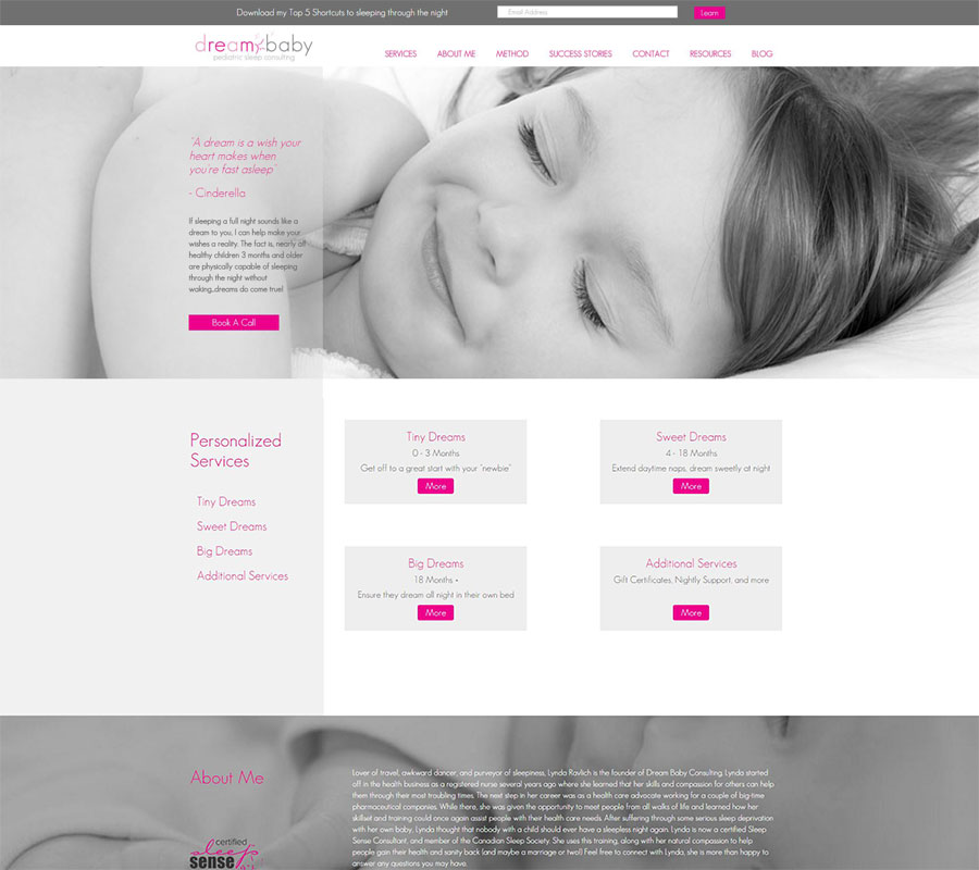 Dreambaby Consulting Website Image